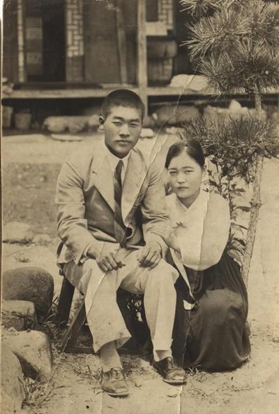 1930년대 중반 강성갑-오중은 부부(출처: 홍성표)