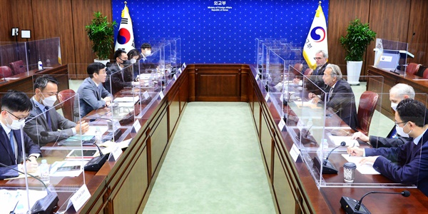 3일 오전 서울 도렴동 외교부 청사에서 제9차 한-IAEA 고위급 정책협의회가 열리고 있다.