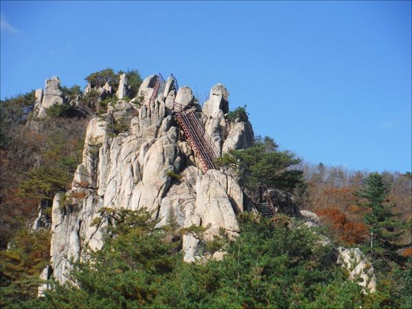 남산제일봉 산행의 묘미는 절묘하게 생긴 바위들의 웅장함에 있다.