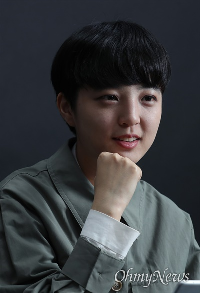 류호정 정의당 의원이 4일 서울 여의도 국회 의원회관에서 <오마이뉴스>와 인터뷰하고 있다.