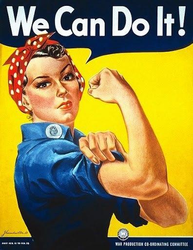 전시 상황에서 어떻게 미국의 여성노동자들이 노동력으로 동원되었는지를 보여주는 대표적인 포스터 이미지다. 차후 이 시기의 이미지들은 여성운동을 상징하는 이미지로 의미화되었다.