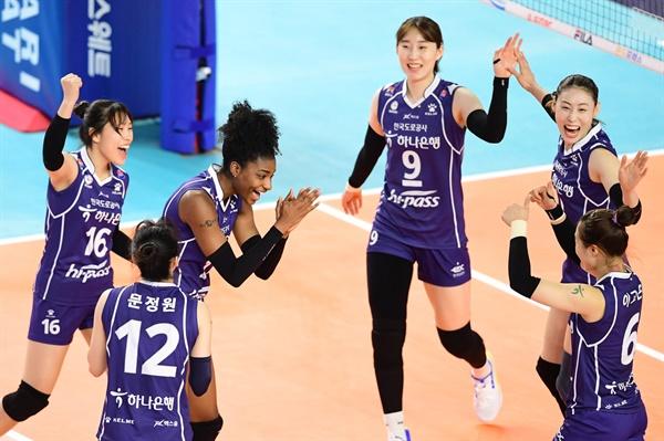 한국도로공사 선수들 경기 모습 (2020.11.6)