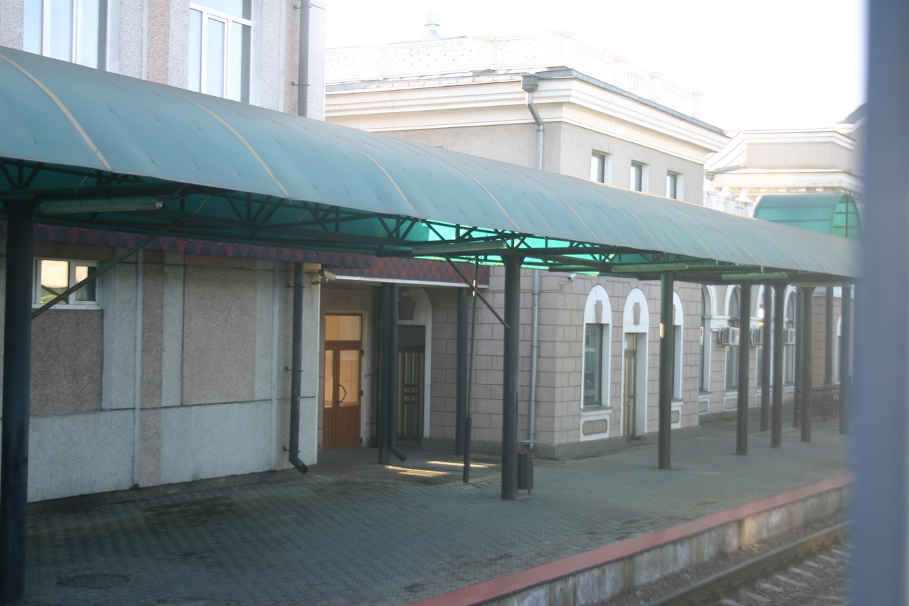 러시아 국경역 프브라니치나야 플랫폼(2009. 10. 30. 촬영).