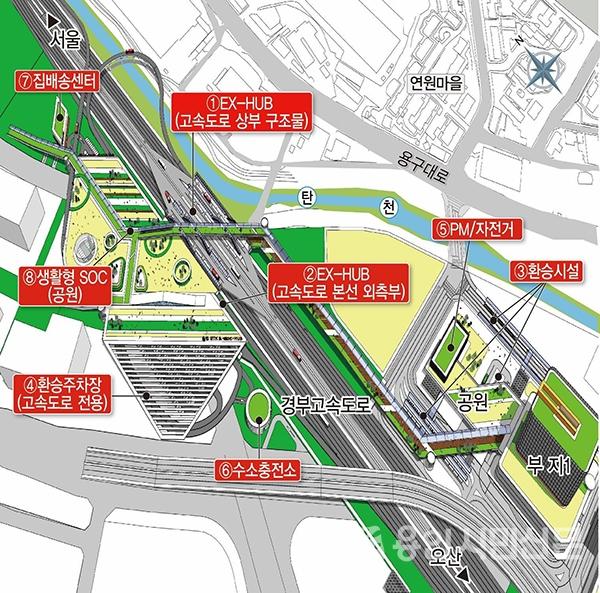 용인시가 구상한 GTX용인역 환승센터 조감도 /용인시