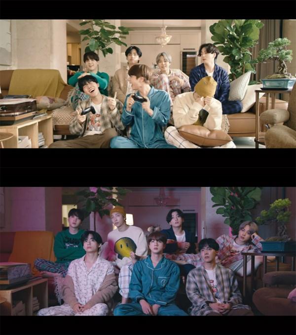 방탄소년단 'Life Goes On' 뮤직 비디오의 한 장면