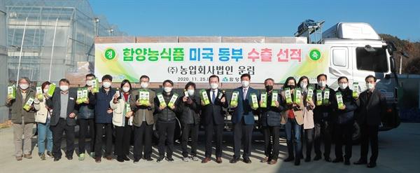 함양 '청매실차' 미국 수출길 열어.