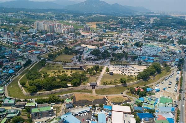 홍주읍성 항공사진