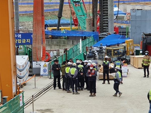 강릉 안인석탄화력발전소 건설현장
