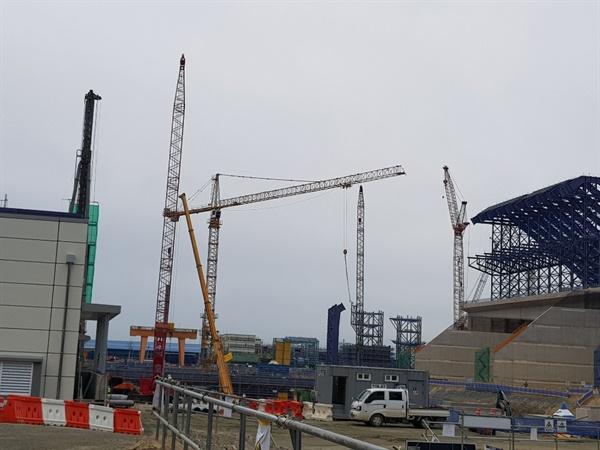 강릉 안인석탄화력발전소 건설현장(자료사진)