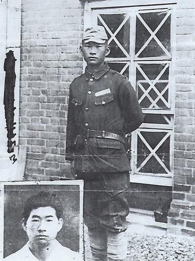 일제강점기 때 징병된 박상후의 당시 모습.