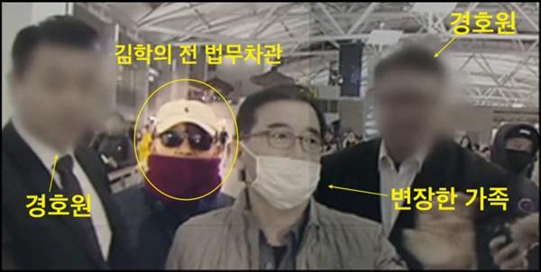 2019년 3월 23일 새벽 인천공항을 통해 출국하려다가 제지당한 김학의 전 법무차관은 경호원과 비슷한 외모의 가족을 앞세워 취재진을 따돌리려고 했다.