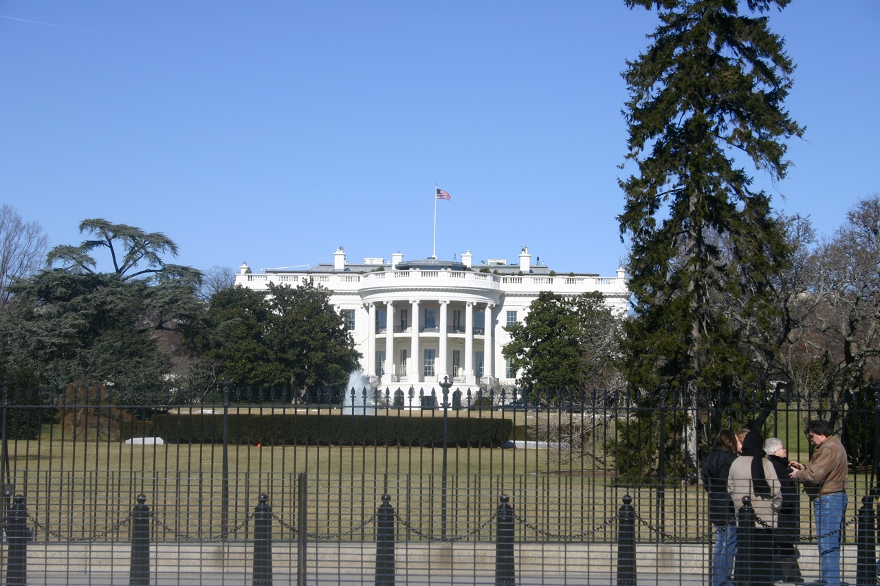 경비가 삼엄한 백악관(2004. 2. 6. 촬영.)