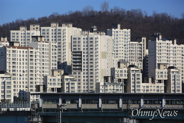 서울 중랑구 아파트 단지.