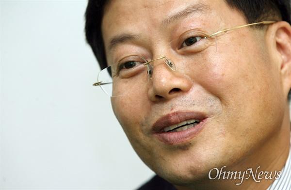 김용철 변호사(전 삼성그룹 구조조정본부 법무팀장). 사진은 2007년 11월 6일 '오마이뉴스'와의 인터뷰 당시 모습.
