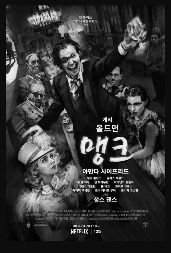 넷플릭스 오리지널 영화 <맹크> 포스터.