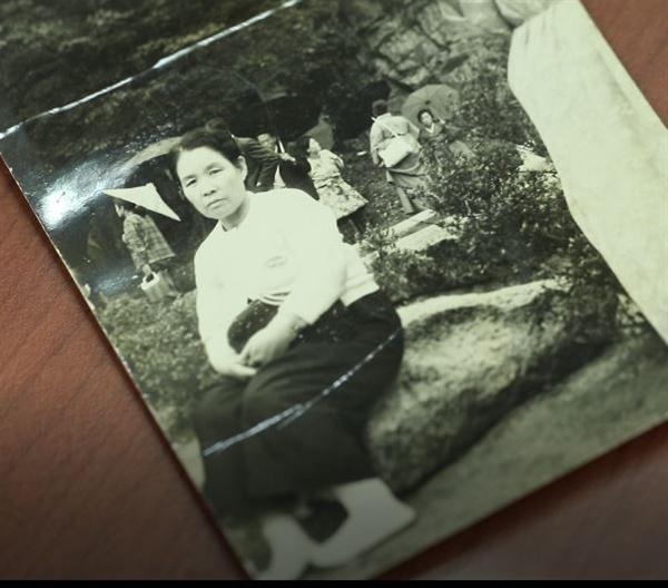 젊은 시절 김치 1호 손양영씨의 어머니의 모습