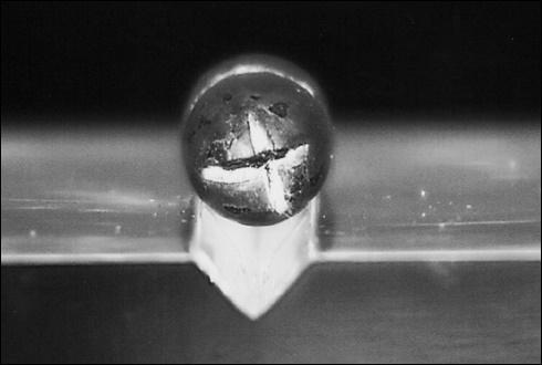 안중근 의사가 발사하여 이토히로부미를 관통한 탄알(일본 헌정기념관 소장).