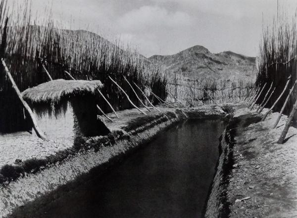 1952년 3월경 요새화 되어 있는 전남 나주경찰서 다도지서. (출처: 이경모, 격동기의 현장)