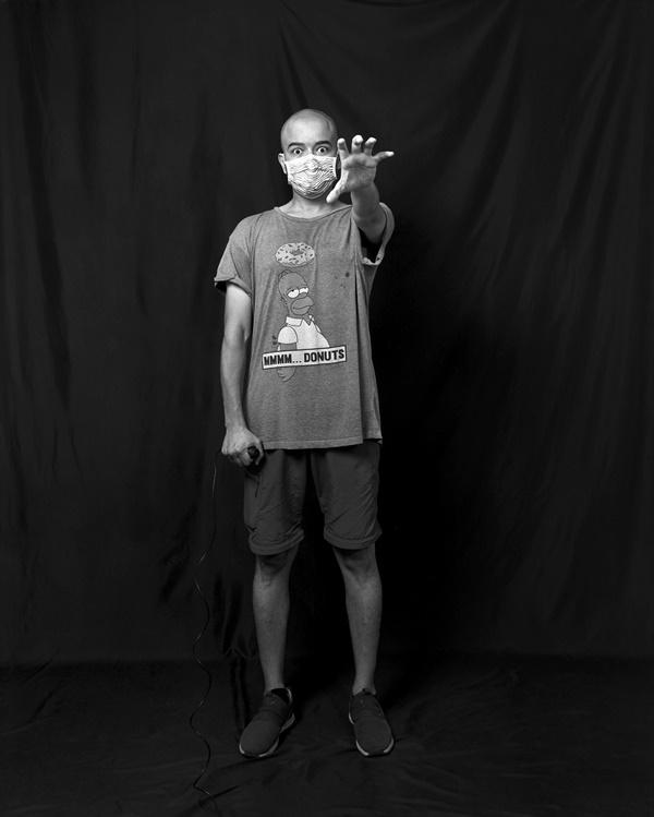왈리드씨의 자화상 사진 사진기자로 대만에서 일하고 있는 왈리드씨의 자화상 사진.