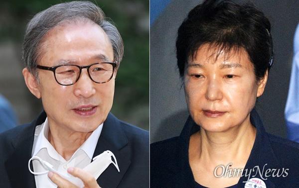 왼쪽부터 이명박씨, 박근혜 전 대통령.