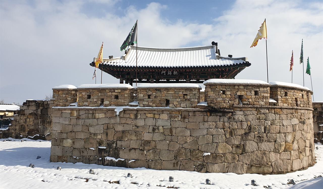 복원된 옛 나주읍성의 서성문. 난파 정석진이 이끄는 수성군이 동학농민군과 치열하게 싸운 곳으로 전해진다.