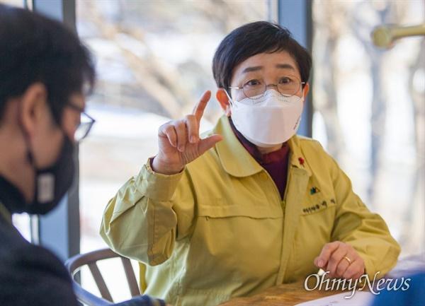 기후위기에 맞선 '모범 넷제로도시'를 만들기위해 노력하고 있는 박정현 대전 대덕구청장