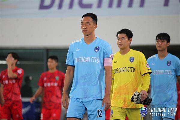 지난시즌을 끝으로 그라운드를 떠난 김상필 선수 .