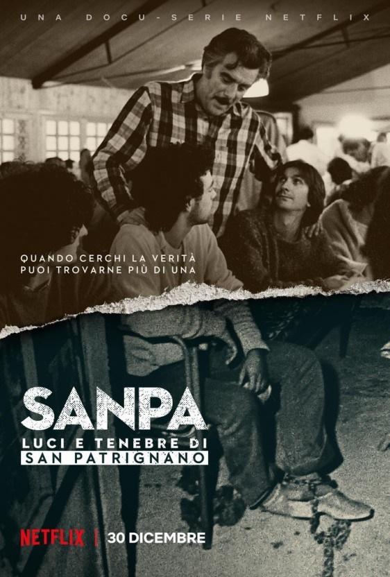 넷플릭스 오리지널 다큐멘터리 시리즈 <산 파트리냐노: 구원자의 죄> 포스터.
