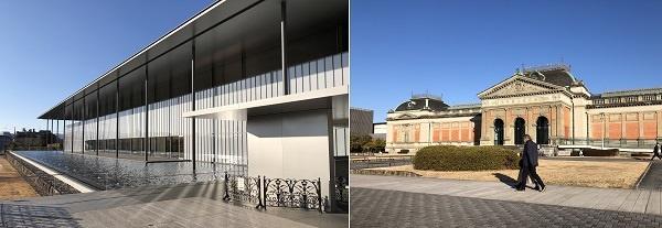 교토국립박물관은 신관을 새로 지어서 오래된 옛 건물과 대비됩니다.?