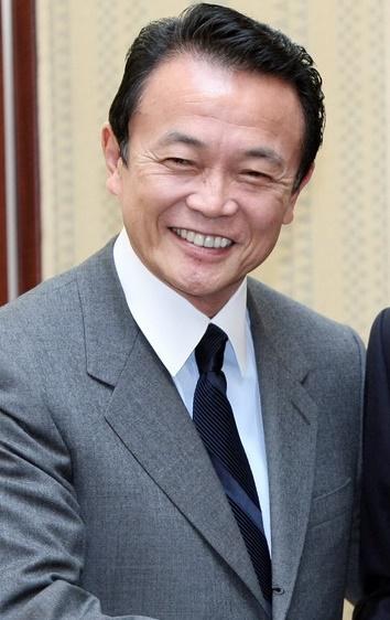 아소 다로 전 일본 총리. 사진은 지난 2007년 방한 당시 모습.