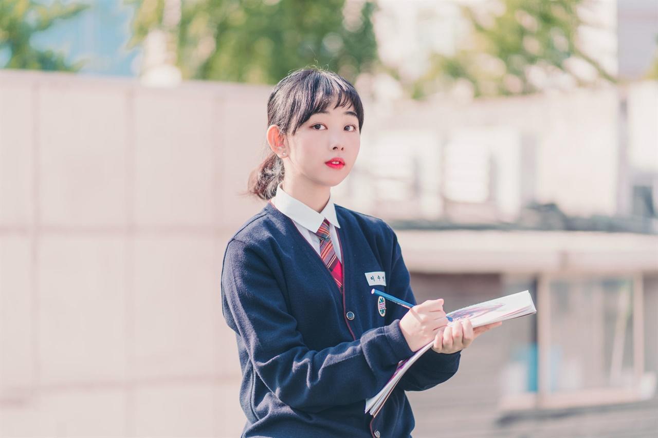 단편영화 <비밀의 화원> 이수인 역을 연기한 장혜수님. 연출도 함께 맡았다.