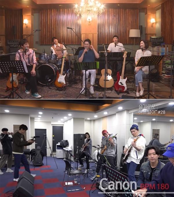 채널 십오야에선 특이하게도 tvN 드라마 '슬기로운 의사생활' 각종 비하인드 영상물도 독점 공개해 관심을 모았다.  밴드 미도와 파라솔이 진행한 인터넷 생방송 공연도 풀버전으로 이곳에서 볼 수 있다.