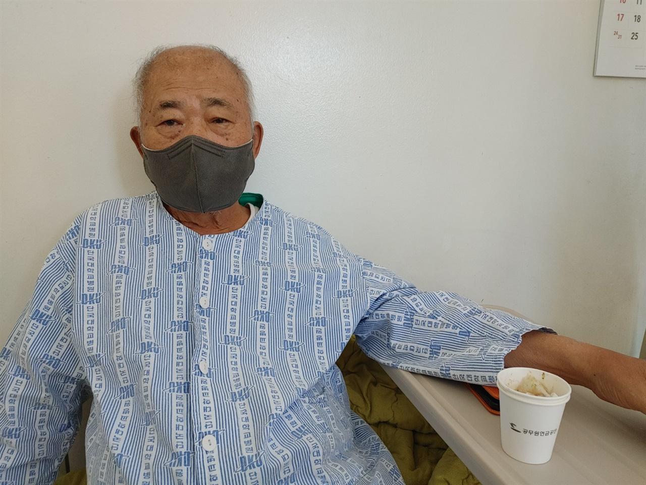 입원생활  거의 1월 한 달을 천안단대병원과 서울 중앙보훈병원에서 생활했다.