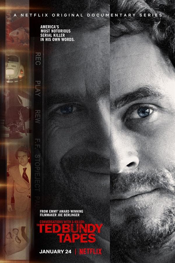 영화 포스터:  <살인을 말하다: 테드 번디 테이프>