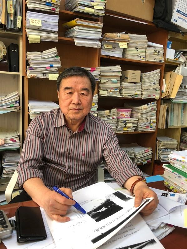 18년 동안 윤석열 검찰총장의 장모 최은순씨와 싸워온 정대택씨.