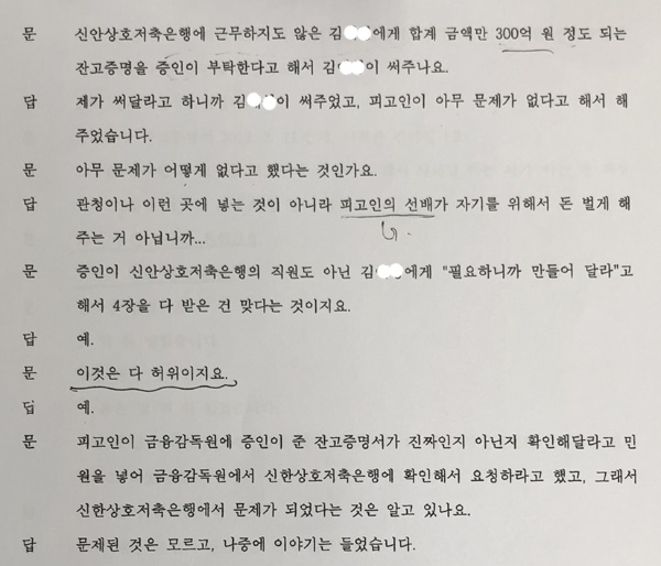 지난 2016년 4월 14일 서울남부지방법원에서 열린 안소현씨 사건 재판에서 윤석열 검찰총장 장모 최은순씨는 '은행잔고 증명서를 위조했다'고 시인했다.