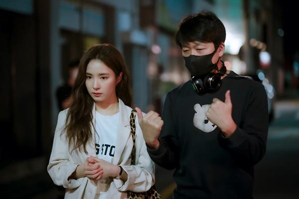 JTBC 드라마 <런온> 현장 사진.