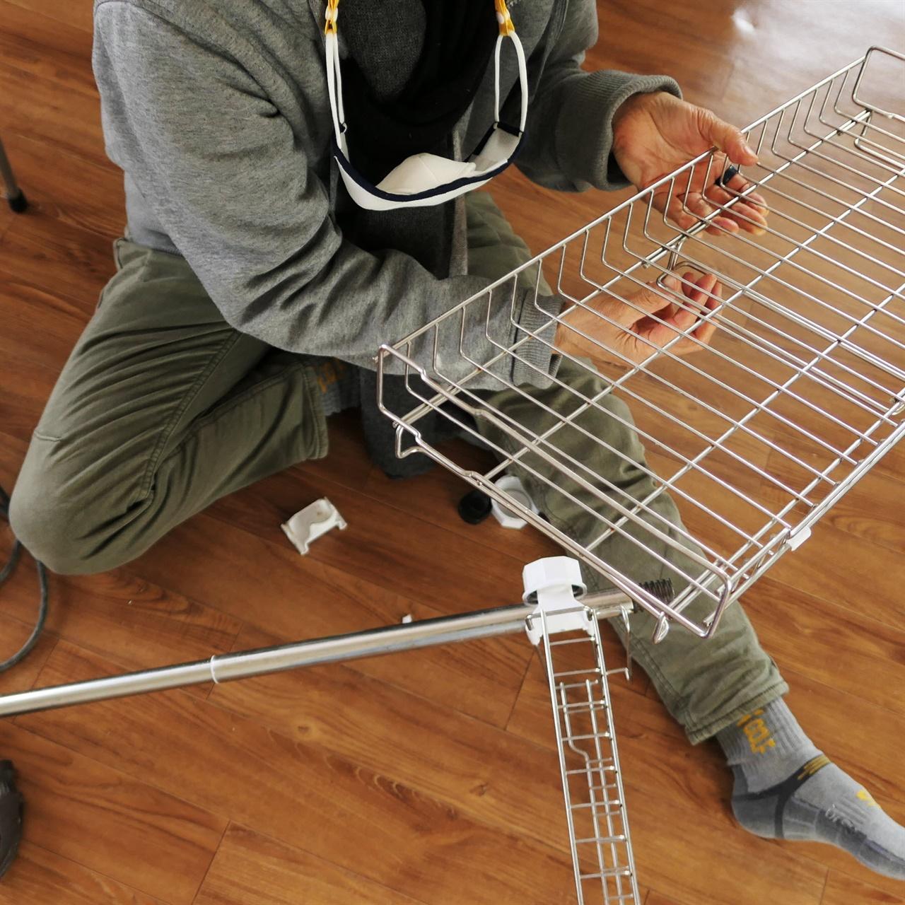 주방 설거지 선반으로 활용하면 좋을 재활용 스틸 선반