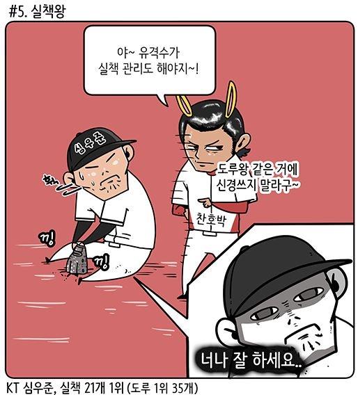 1995년생 동갑내기로 '닮은꼴'인 KIA 박찬호와 kt 심우준 (출처: KBO야매카툰/엠스플뉴스)