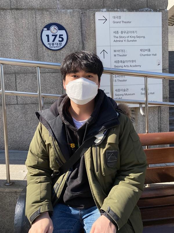 국가보안법 1인 시위에 필요성을 강조하는 박준성 회원