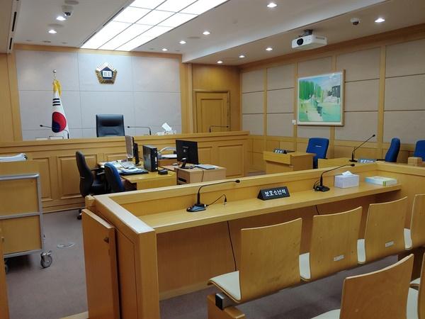 소년부 판사가 보호처분을 결정하는 법정