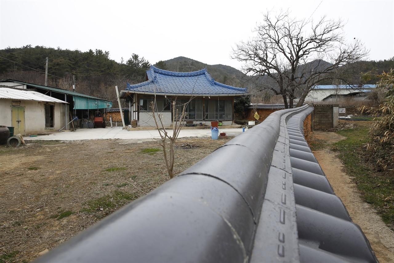박관현 열사의 생가. 내산서원에서 가까운, 영광군 불갑면 쌍운리에 있다.