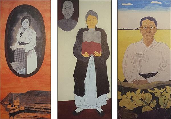 김알렉산드라 김알렉산드라, 박자혜, 김옥련 지사 (왼쪽부터) 윤석남 그림