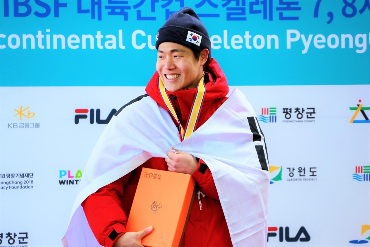 지난해 평창에서 열렸던 스켈레톤 대륙간컵에 출전했던 정승기 선수의 모습.