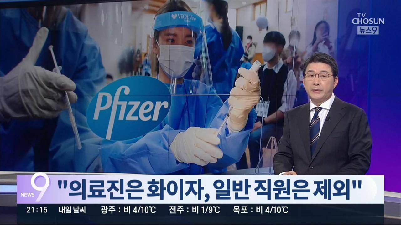 아스트라제네카 백신 불안감 키운 TV조선 <뉴스9>(2/24)