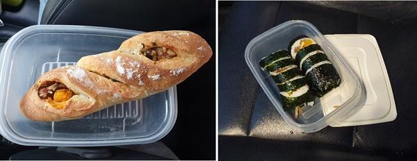 김밥집, 빵집에 갈 때 비닐 대신 밀폐용기에 담아온다.