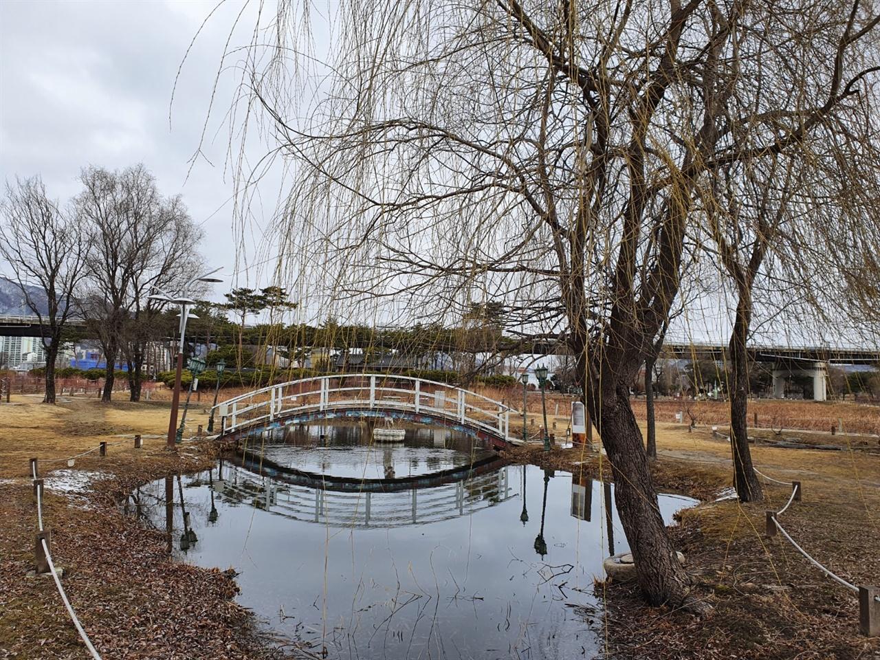 세미원 안에 위치한 모네의 정원 프랑스의 유명한 화가 모네의 정원인 지베르니 정원을 제현한 장소다. 수련이 가득 피는 철이 되면 아름다움이 극에 달한다고 한다.