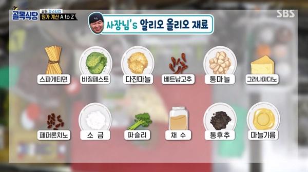3월 31일 방송된 SBS <골목식당> 강동구 길동 골목 편의 한 장면