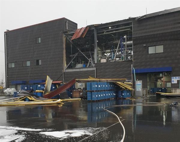 지난 3일 예당산업단지 내의 한 화학공장에서 폭발 사고가 발생했다.