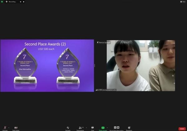 공동 2위를 수상한 국민대 뉴스클립팀 뉴스클립 세월호 7주기 특집: 문재인 정부 4년, 진상규명 약속은(7 Years of Sewol's Spring Day? Vlog Contest Award Ceremony) https://youtu.be/eZbjy9k-Q5c